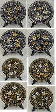Damascene Gold /Silver Dove Design Miniature Decorative Plate by Midas of Spain