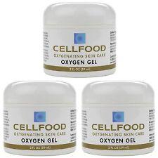3 Pack Cellfood Oxygen Gel 2fl.oz Jar Oxygenating Skin Care Gel by Lumina Health
