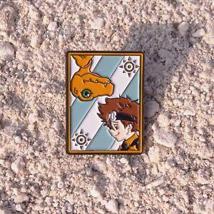 Digimon monster YAGAMI TAICHI Agumon Metal Badge Brooch Pin Rare Gift Limit N