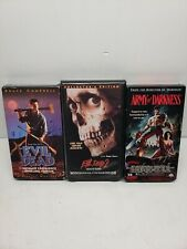 The Evil Dead Trilogy (VHS) Evil Dead, Evil Dead 2, Army of Darkness - Horror