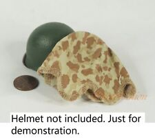 1:6 Figure US WW2 Vietnam Korean Wars Marine Camouflage M1 Helmet Cover DA217