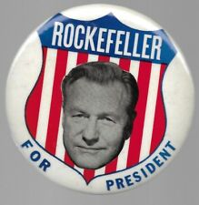 NELSON ROCKEFELLER FOR PRESIDENT LARGE, BIG SHIELD POLITICAL PIN