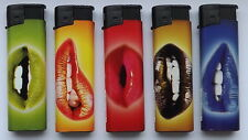 SET OF 5 ELECTRONIC STYLE LIGHTERS - HOT LIPS