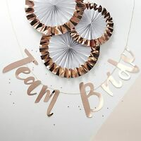 HEN PARTY Rose Gold TEAM BRIDE Banner Bride to Be Scripted Hanging Banner 1.5M