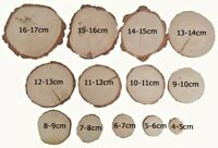 "4-17cm (2-6"") Natural Wooden Wood Log Slices Discs Wedding Decor DIY Crafts"