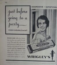 1931 Wrigleys Spearmint Chewing Gum Before Going to Party Original  Ad