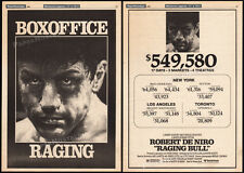 RAGING BULL__Original 1980 box office Trade AD promo / poster__ROBERT DE NIRO