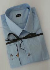Paul Smith Camicia Taglia 18 Extra Large Slim Fit Celeste Polsini Multi