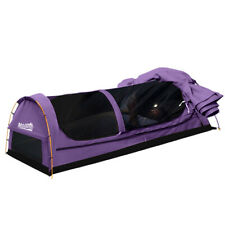 New listing Mountview Double Swag Camping Swags Canvas Dome Tent Hiking Mattress Purple