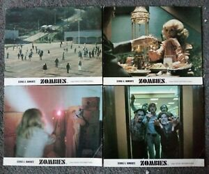 LOT OF 4 ORIGINAL LOBBY CARDS GEORGE ROMERO'S ZOMBIES DAWN OF THE DEAD