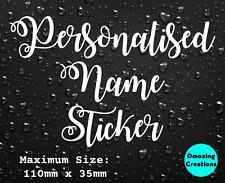 Personalised Name Sticker Custom Bottle Wine Glass Decal Hen Do Wedding Birthday