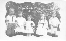 Baptist Beginners Sunday School Class Antique 1915 RPPC Real Photo Postcard C05