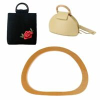 One Pieces Wooden Handle Replacement DIY Handbag Purse Frame Bag Accessories