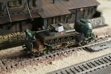 FLEISCHMANN, WWII MILITARY WAGON WITH ONE PANZER AS LOAD, SCALE HO