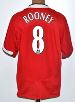 MANCHESTER UNITED 2004/2005/2006 HOME FOOTBALL SHIRT NIKE #8 ROONEY SIZE XL