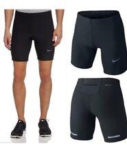 Men's Nike Dri Fit Tech Tight in esecuzione Pantaloncini Nero Medio Rrp £ 35