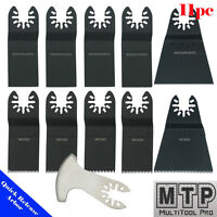 11 Saw Blade Oscillating Multi Tool Dewalt Rockwell Hyperlock Ryobi Chicago Voss