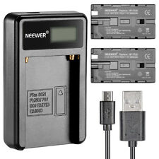 Neewer Micro USB Battery Charger with 2*2600mAh Battery for Sony NP-F550/570/530