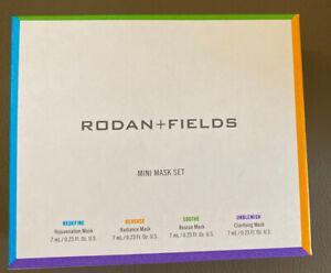 Rodan+Field Mini Mask Set-4 Masks Redefine,Reverse,Soothe,Unblemished Exp 12/19