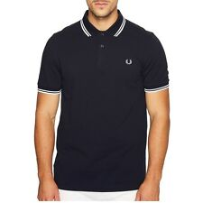 Fred Perry Polo M1200 Mens Fred Perry Twin Tipped Polo Classic Fit NEW