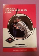 ICHIRO * CHART TOPPERS #420 SEATTLE MARINERS * 2001 FLEER PLATINUM MLB BASEBALL