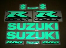 GSX-R 600 reflective green signal decals stickers graphics kit set SRAD verde k6