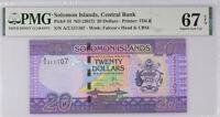 Solomon Islands 20 Dollars Nd 2017 P 34 Superb Gem UNC PMG 67 EPQ