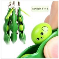 Funny Squeeze-a-Bean Anti-Anxiety Fidget Toy Stress Relief For ADHD Keyring