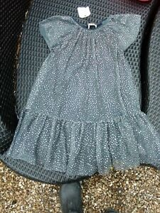 BNWT Grey ZARA Party Occasion Tulle Dress Age 8 Years