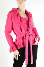 ST. JOHN – Gorgeous RARE Pink Santana Crochet Knit Jacket Twinset - Size 8