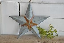 "New 12"" RUSTY GALVANIZED BARN STAR Metal Tin  Primitive Country"