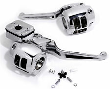 Poignée Robinetterie Kit Guidon Robinetterie Chrome Pour Harley Davidson Evo Twin Cam 96-06