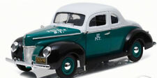 GREENLIGHT 1:18 AUTO IN METALLO FORD DELUXE COUPE 1940 POLICE NEW YORK ART 12972