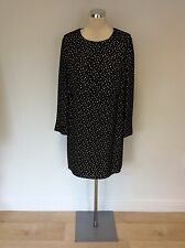 WHISTLES BLACK & WHITE CHECK SILK DRESS SIZE 12