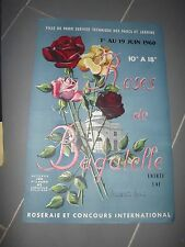 affiche exposition CONCOURS ROSES DE BAGATELLE 1960 (madeleine Monier)  af125