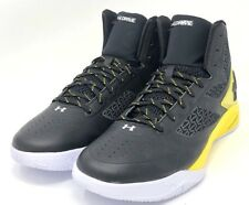 Under Armor Basketball Shoes SIZE 12 Black Yellow CLUTCH FIT DRIVE 2 1258143-002