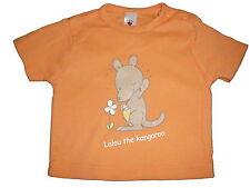 C & A süßes T-Shirt Gr. 68 orange mit Känguruh Motiv !!