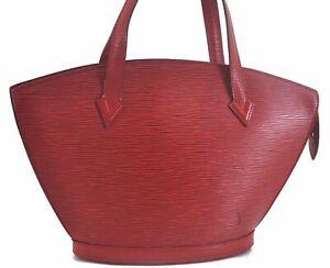 Authentic Louis Vuitton Epi SaintJacques Hand Bag Red M52277 LV C6208