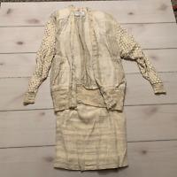 womens S Nikos hand woven sweater and skirt set