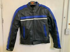 VINTAGE 90's LEATHER MOTORCYCLE RACING JACKET SIZE 42 / XS