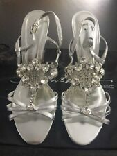 Next Signature Silver Jewelled Sandals New With Tags RRP£75