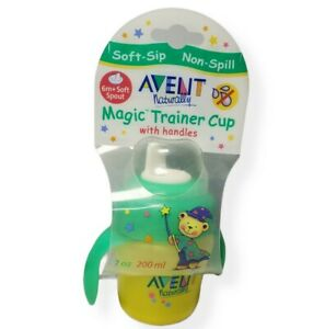 New in Box Philips AVENT Naturally Magic Trainer Cup with Handles Sippy 7 oz