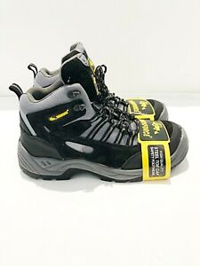 Mens Workforce Black Leather Steel Toe Safety Hiker Boot UK Size 8