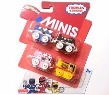 Thomas & Friends MINIS POWER RANGERS 4 Pack 2017 - Blue, Black, Pink & Goldar