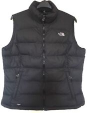 THE NORTH FACE 700 BLACK GOOSE DOWN BODY WARMER GILET JACKET WOMENS XL