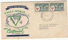 Stamp Australia 3&1/2d YMCA on Southern Cross cover misplaced green error