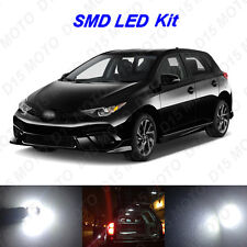 10 x White LED Interior Bulbs + Reverse + License Plate Lights for 2016 Scion iM