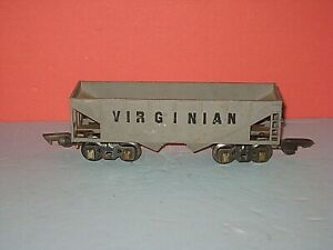 "American Flyer ""3/16- O"" Diecast Virginian Hopper, #508, no bottom doors C-5 bd"