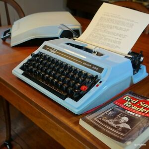 1978 Escort 350 (Brother) portable typewriter: Immaculate and working perfectly.