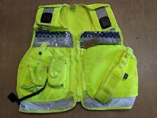 Hi Vis Tactical Security Law Enforcement Baton Pouch Vest Size Small UK #756